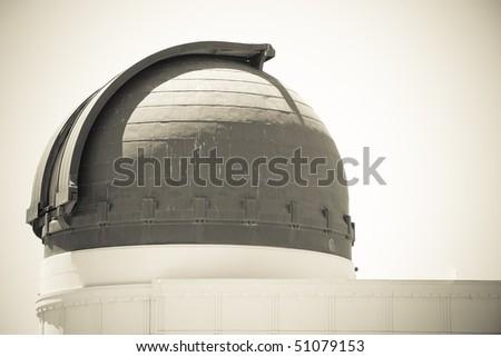 Observatorium, vintage monochrome - stock photo