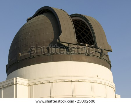 Observatory dome with doors open.