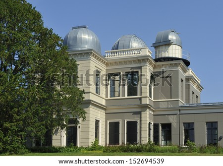 Observatory of the Leiden University in the Netherlands - stock photo