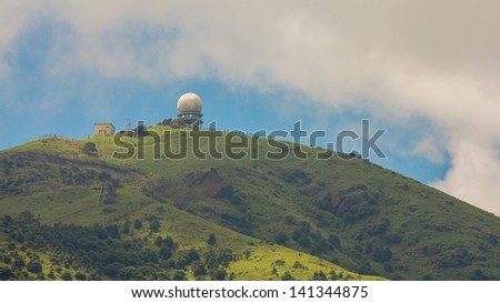 Observatory on the mountain - stock photo
