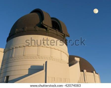 Observatory Telescope Dome - stock photo