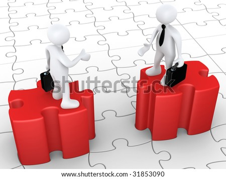 Obstacles In Agreement - stock photo