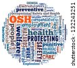 Occupational Safety  Health in world collage - stock photo