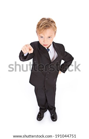 Occupations: Angry Young Businessman Points At Camera