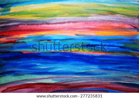 Ocean abstract or Colorful lines, Lines background, Creative background, Colorful background, Art background - stock photo