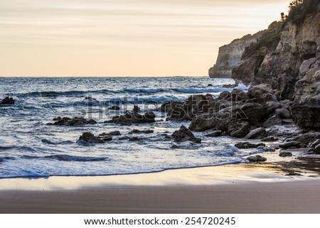 Ocean and Rocks - stock photo