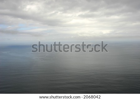 ocean and sky - stock photo