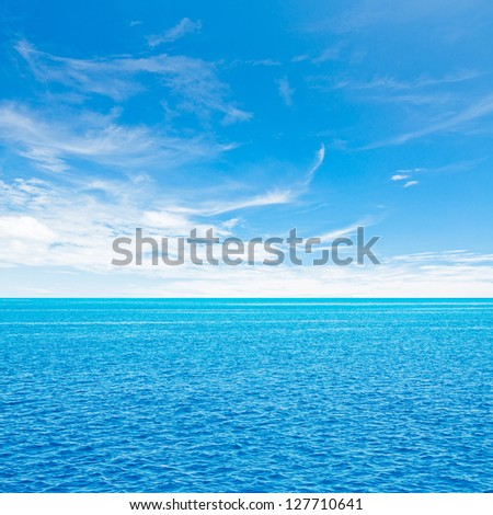 Ocean and sky. Tropical quad composition - stock photo