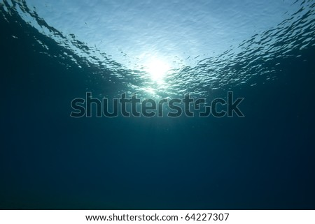 Ocean and sun in the Red Sea. - stock photo