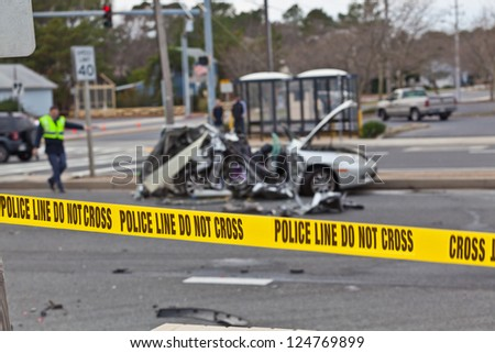OCEAN CITY - DECEMBER 12: Scene of the car accident at Highway 1 ...