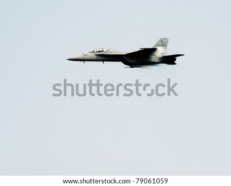 OCEAN CITY, MD - JUNE 11: U.S. Navy F-18 Hornet performs during the annual Ocean City Air Show on June 11, 2011 in Ocean City, Maryland.