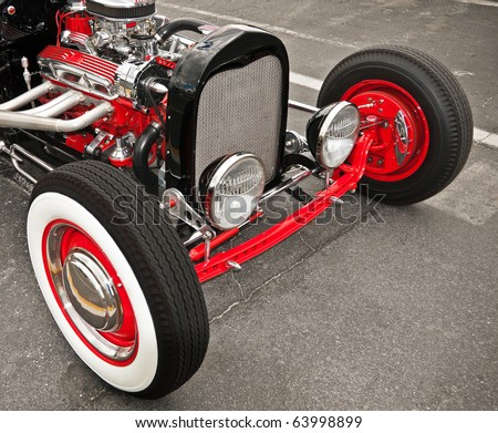 OCEAN CITY, NJ - SEP 11: A modified classic 1929 Buick sits on display at the Street Rod Weekend Car Show on September 11, 2010 in Ocean City, NJ - stock photo