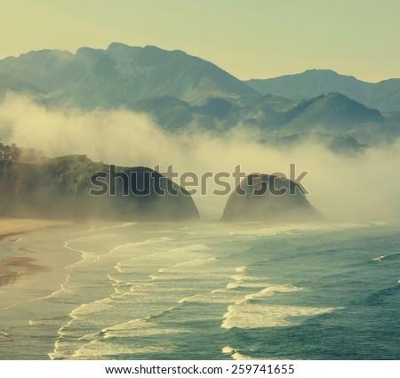 ocean coast - stock photo