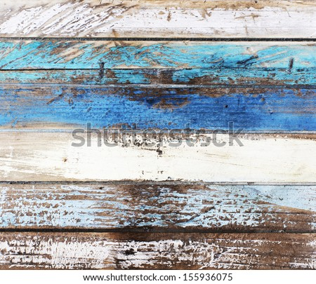 Ocean colored wooden panels background texture - stock photo