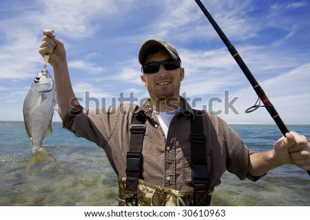 Ocean Fishing - stock photo