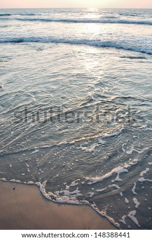 ocean HDR on sunset - stock photo
