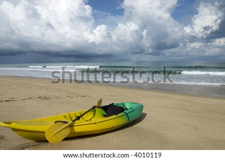 ocean kayak on the beach in Ko Lanta Island,Thailand