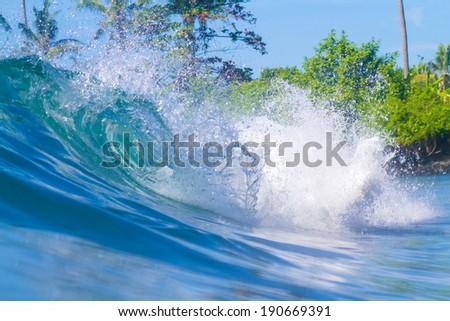 Ocean Landscape.Bali Island.Indonesia. - stock photo