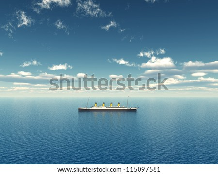 Ocean Liner Computer generated 3D illustration