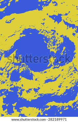 Ocean map - abstract art - stock photo