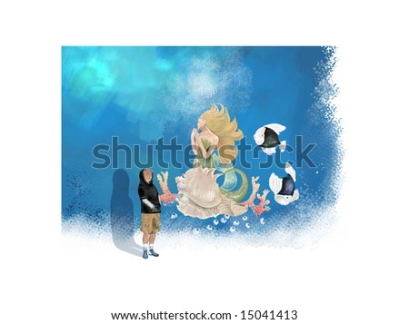 ocean mermaid (search the word nikos for more) - stock photo