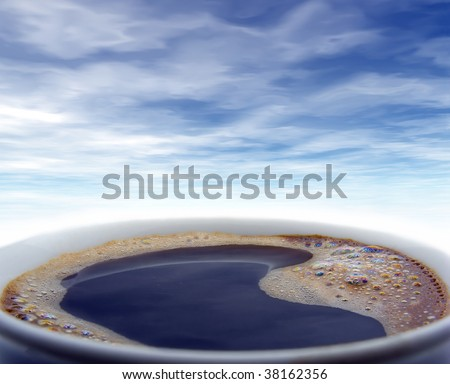 Ocean of coffee - stock photo