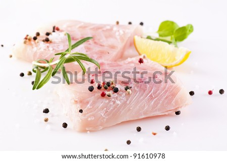 ocean perch with spices - stock photo