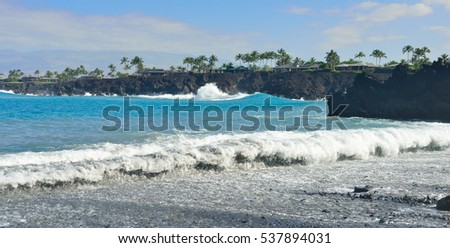 ocean seen from Mauna Lani beach Big Island of Hawaii