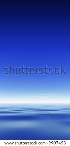 Ocean & Sky with copy space - stock photo