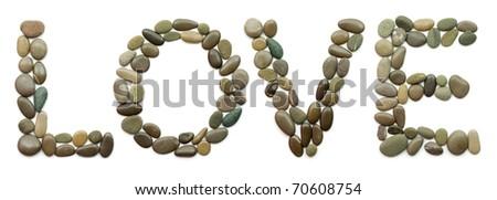 """ocean stones """"LOVE"""" - stock photo"""