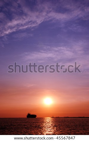 Ocean Sunrise - stock photo