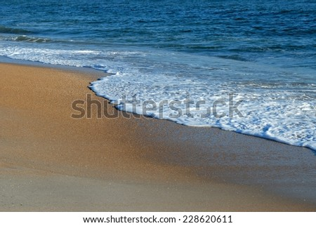 Ocean surf breaking on the beach Florida, USA - stock photo