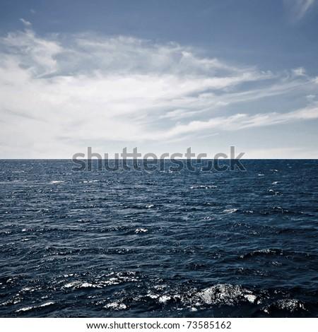 ocean surface - stock photo