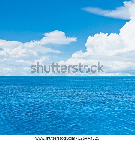 Ocean travel. Tropical quad composition