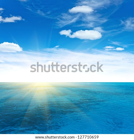 Ocean travel. Tropical quad composition - stock photo