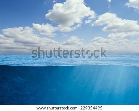 ocean underwater background - stock photo