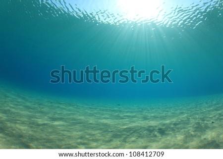 Ocean Underwater Background Image - stock photo