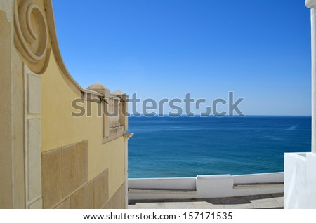 Ocean view from old town, Porto, Portugal - stock photo