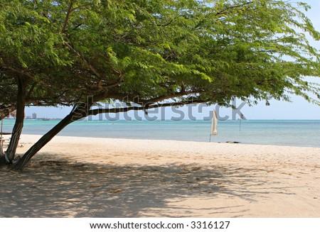 Ocean View in Aruba - stock photo