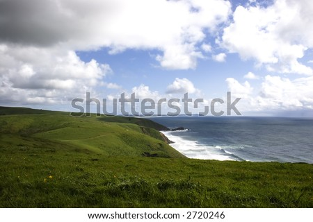 Ocean view in Pt. Reyes national seashore - stock photo