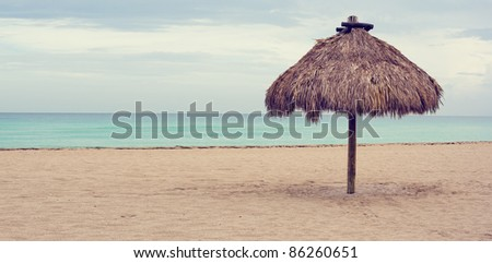 ocean view on the beach in miami , florida, place for holiday - stock photo