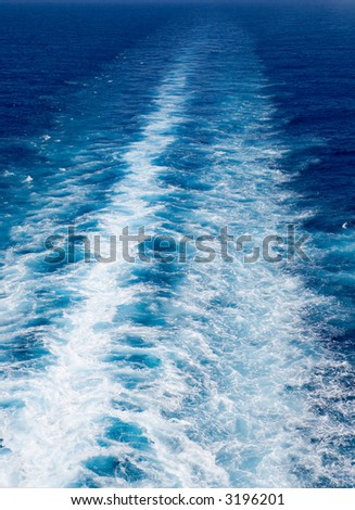 Ocean Wake - stock photo