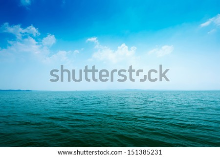 ocean water surface - stock photo