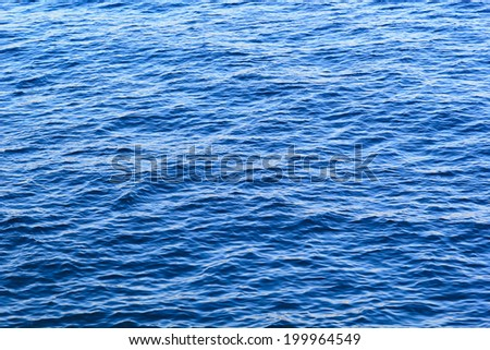 Ocean water surface texture. Deep sea waves - stock photo
