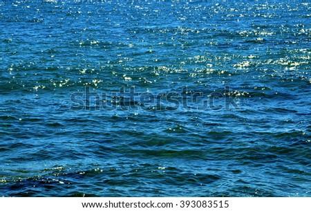Ocean water texture.Ocean water background. - stock photo