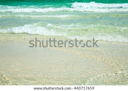 Ocean wave/A Clear Day/Clear, emerald water off the Florida coast.  - stock photo