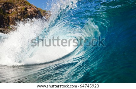 Ocean Wave, Epic Surfing - stock photo