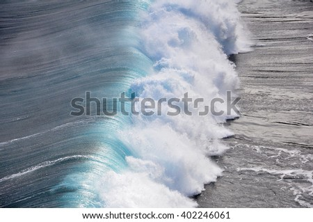 Ocean wave from top view - stock photo