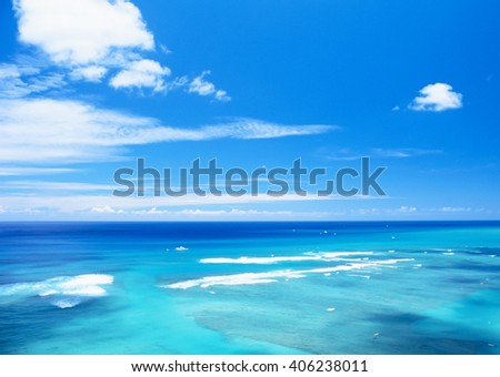 ocean wave in summer