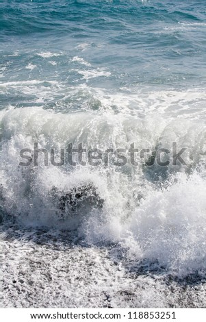 Ocean wave. Tenerife, Canary islands, Spain